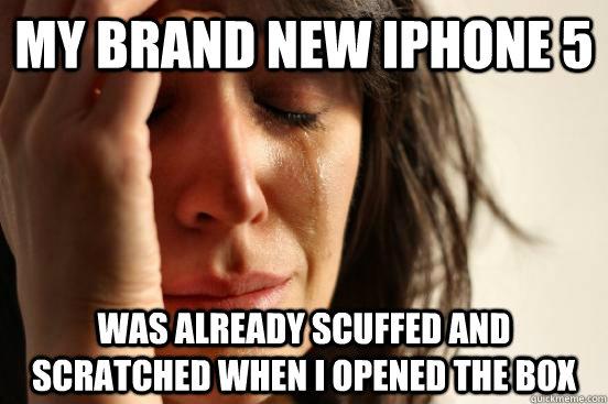 아이폰5 흠집(scuff)문제, 소보원 접수
