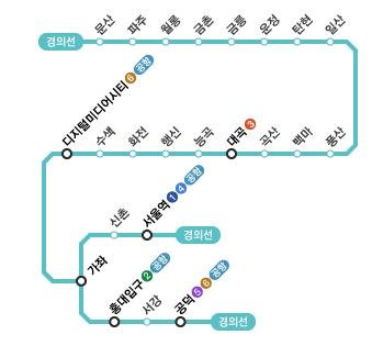 2012.12.15. 경의선 디지털미디어시티~공덕 개통