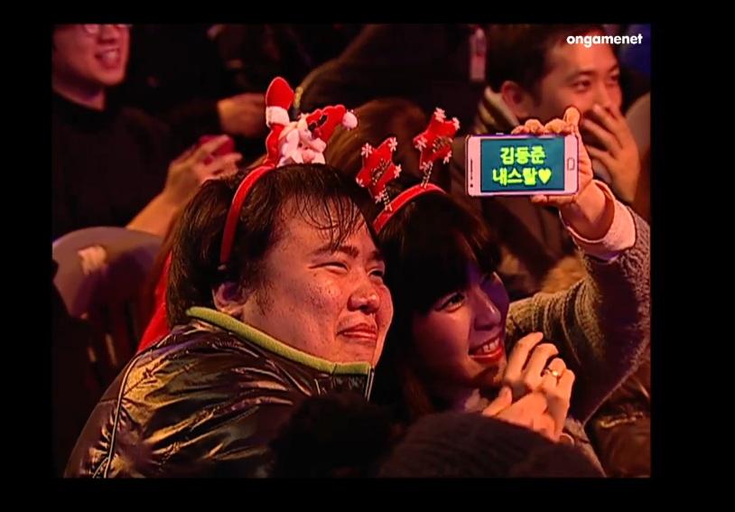 12월 21일 온게임넷 롤방송에 등장한 커플
