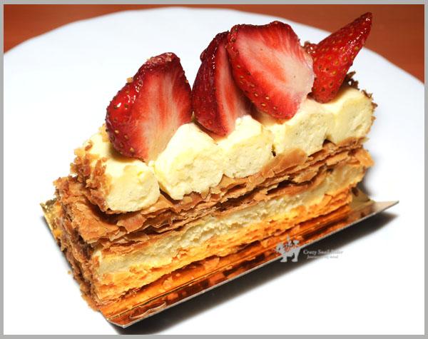타이페이는 딸기철 - 밀푀유를 쉽게 먹기 millefeuille