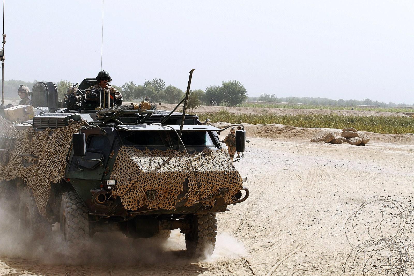 아프카니스탄에서 활약중인 에스토니아육군 Patria..