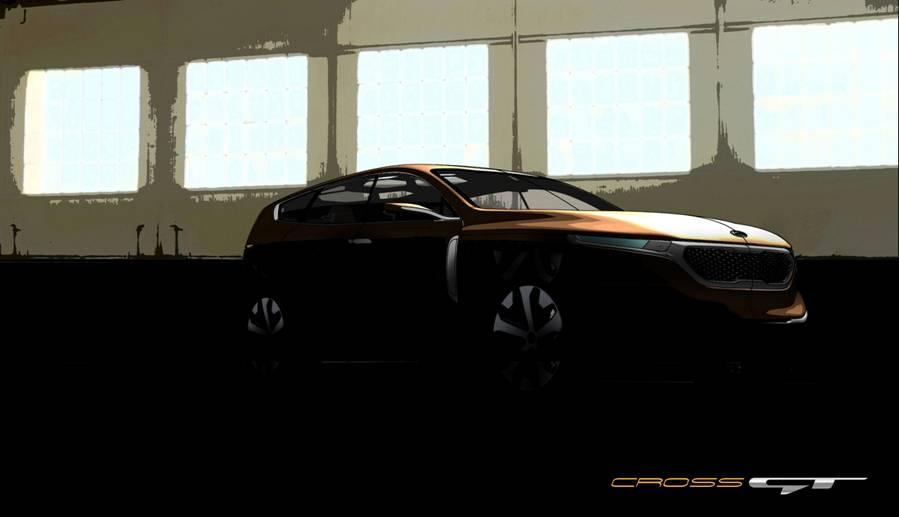 기아의 대형 SUV 컨셉. Cross GT Concept
