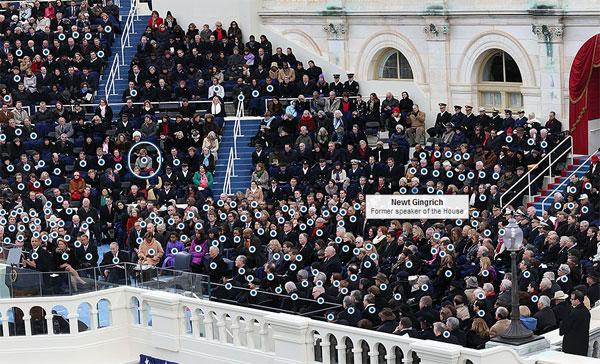오바마 취임식 사진 두 장