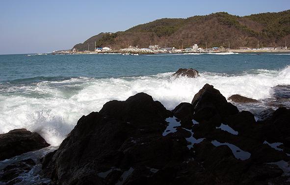 구룡포 서쪽 해안길을 따라...