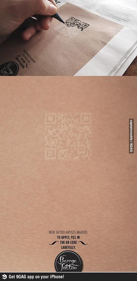 기발한 문신가게 구인광고