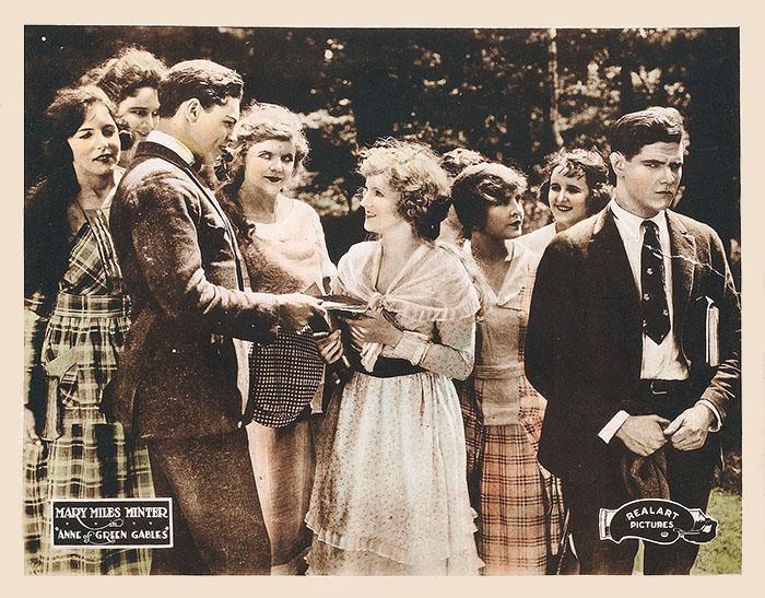 1919년 빨강머리앤 무성영화 로비 카드