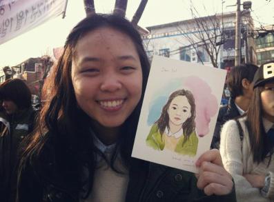 일요일 태국소녀 초상화
