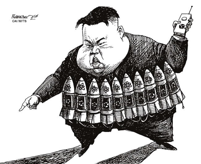 """[해외만평] """"폭탄테러 끝 협박"""""""
