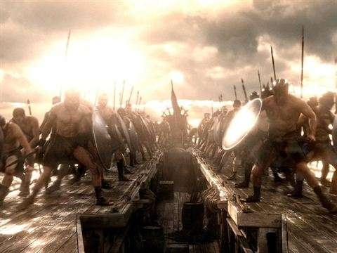 """""""300 : 제국의 부활"""" 스틸샷입니다."""