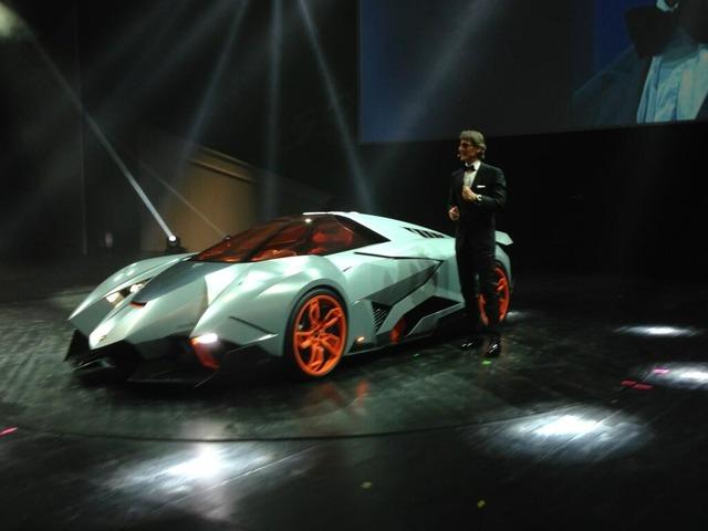 람보르기니의 신 컨셉트 카가 엄청난 꼴이다