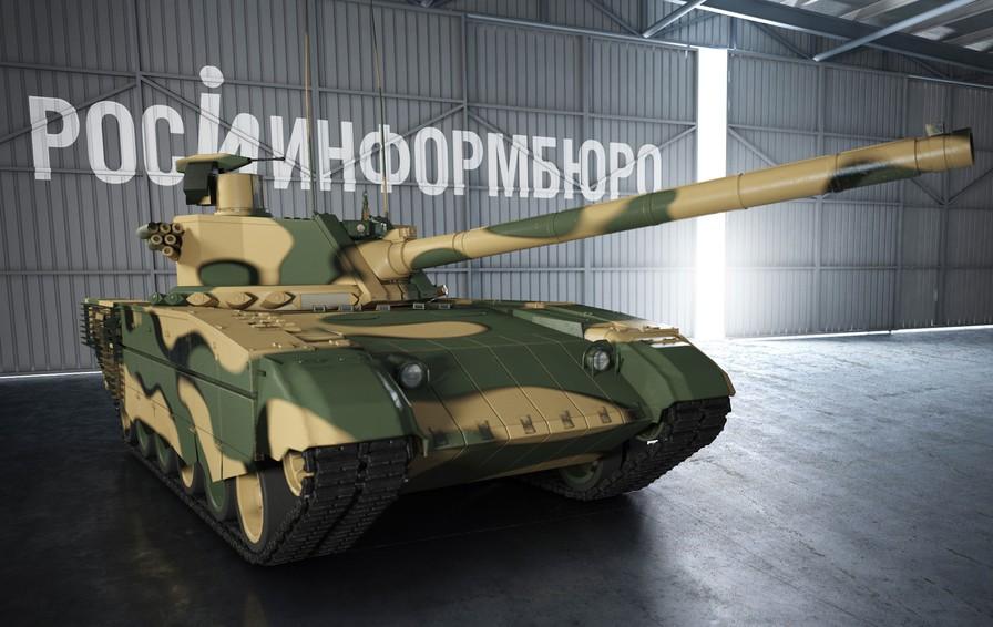 알렉세이 흘로포토프가 예상한 아르마타 전차 3D 모델