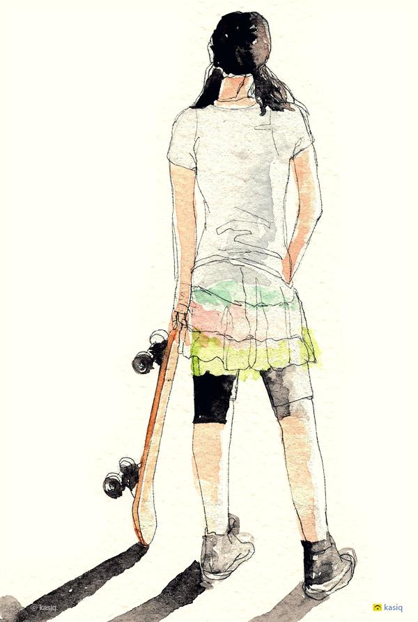 스케이트보드 소녀