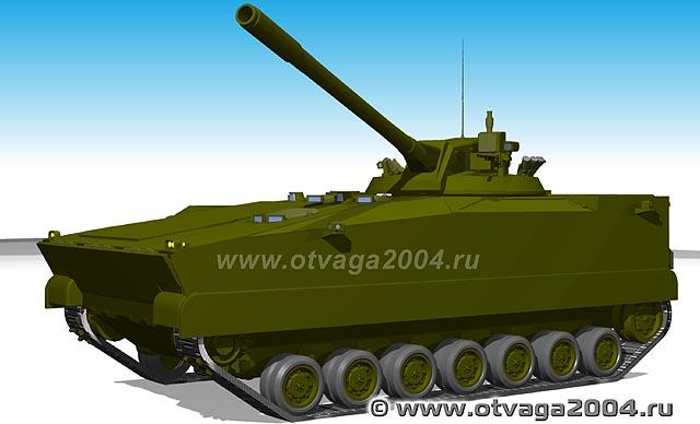 쿠르가네츠 120mm 자주박격포 모델