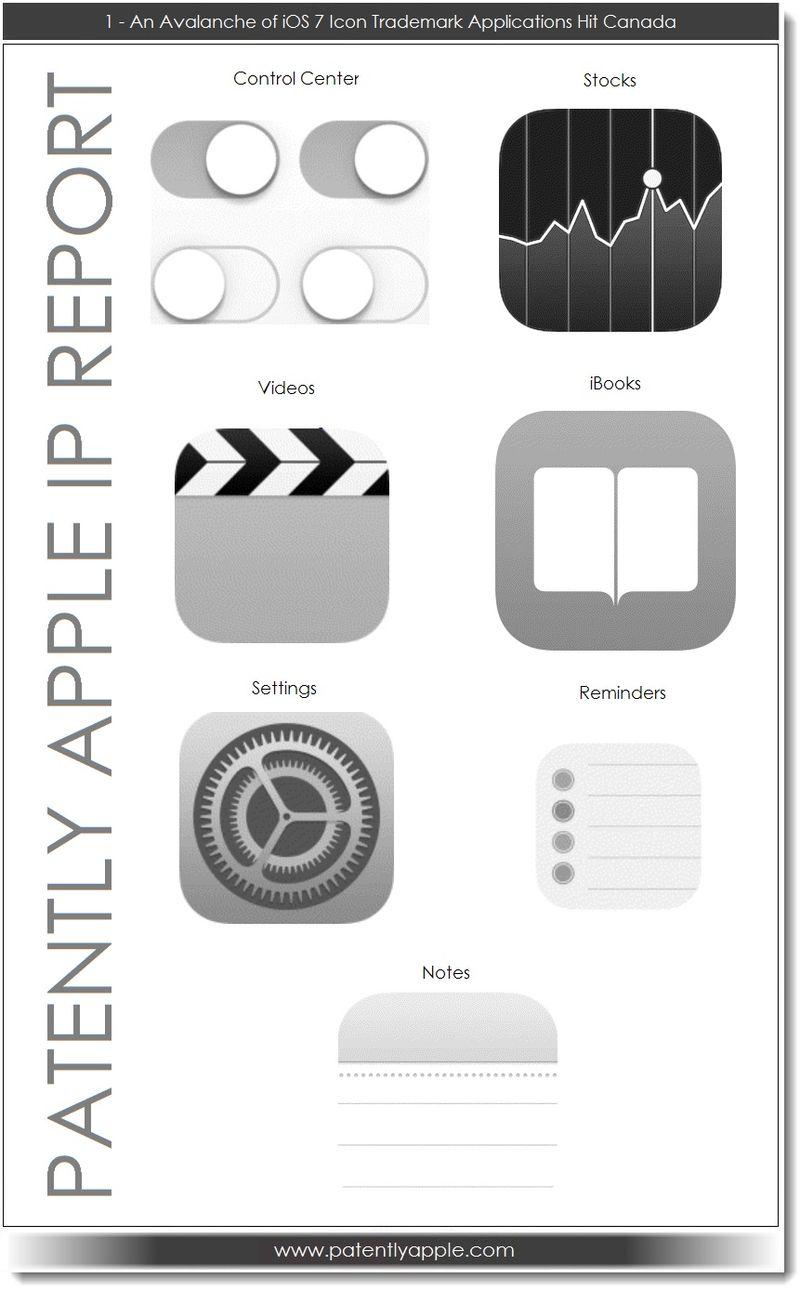 애플에서 iOS 7 앱 아이콘에 디자인 상표를 등록 할..