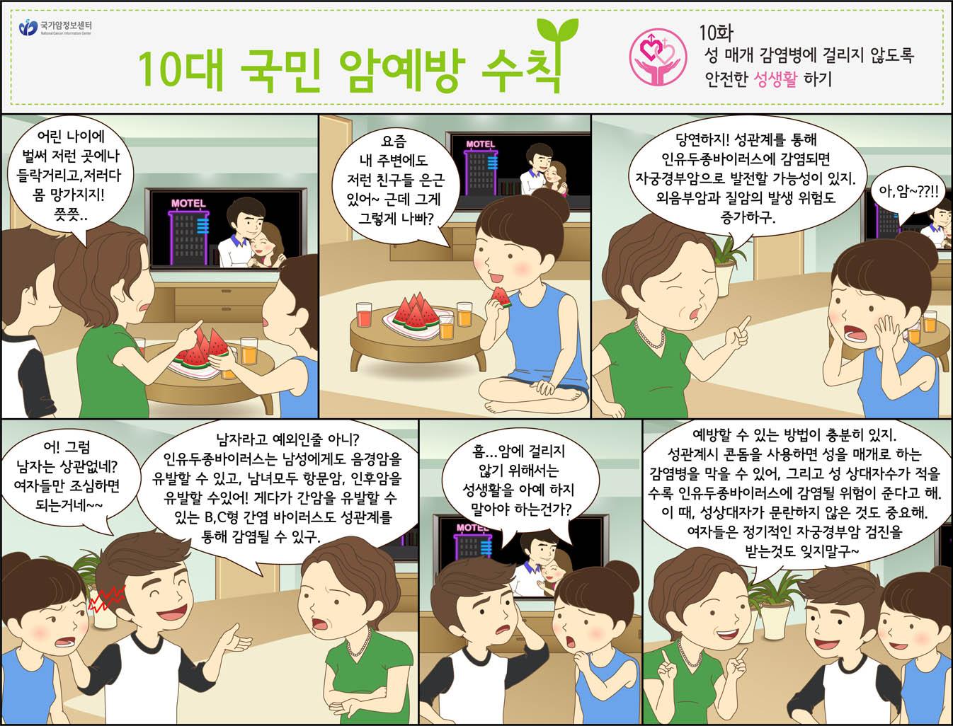 [국가암정보센터] 10대 국민 암예방 수칙_ 성 매개..