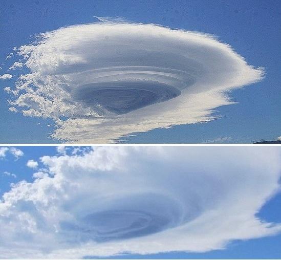 제주, 랜즈구름, 렌즈구름 떴어요~