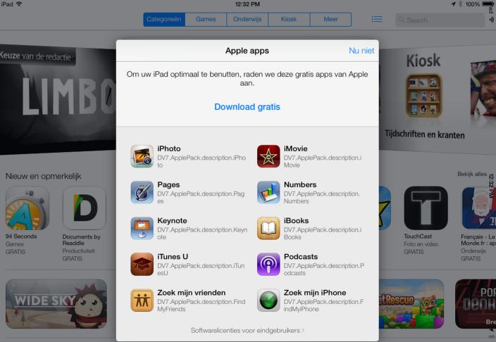 iOS 7 beta 에서 iLife, iWork 무료화 코드가 나..