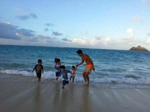 가수 션, 하와이 가족사진 공개