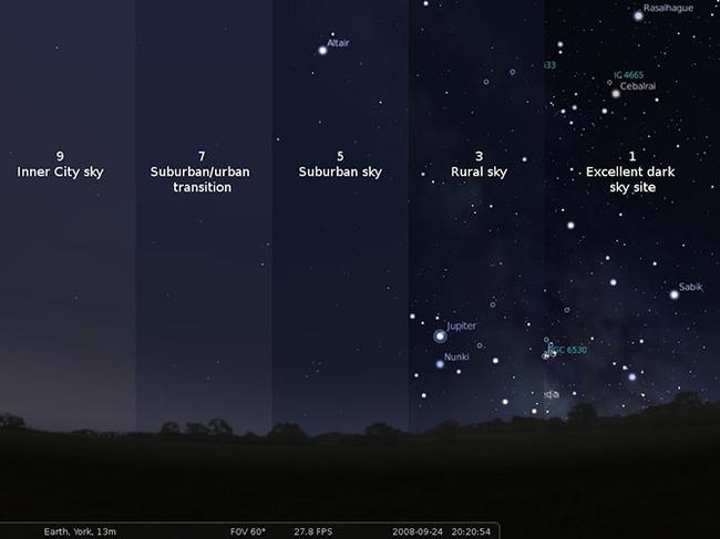 밤하늘의 은하수를 보신 적이 있으세요?
