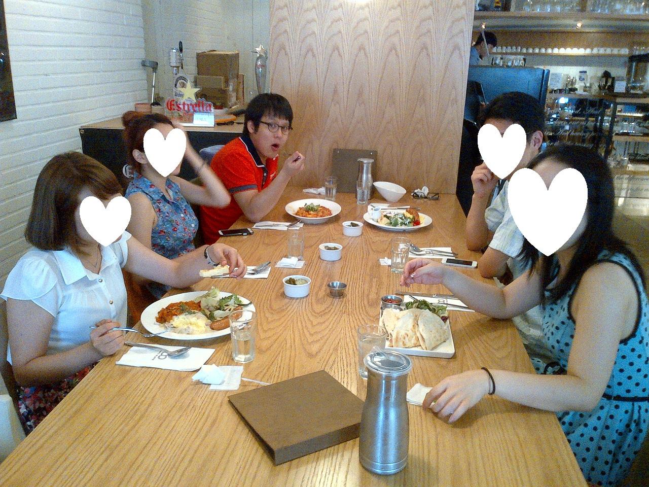 중국어스터디 회원분과 브런치를 먹었습니다.