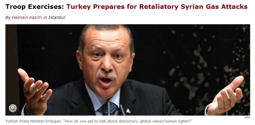 시리아의 화학무기 보복을 두려워하는 터키...