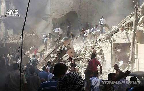 시리아 공격 초읽기군요.