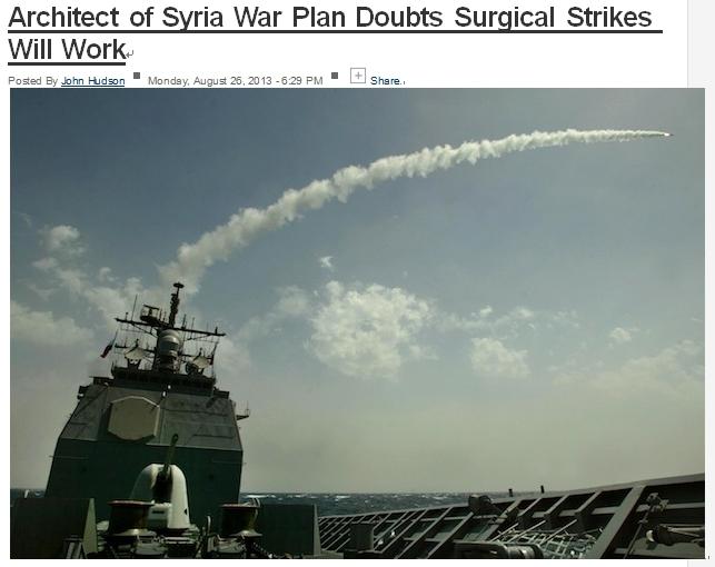 """""""시리아에 대한 미사일 공격이 무용한 이유는?"""""""
