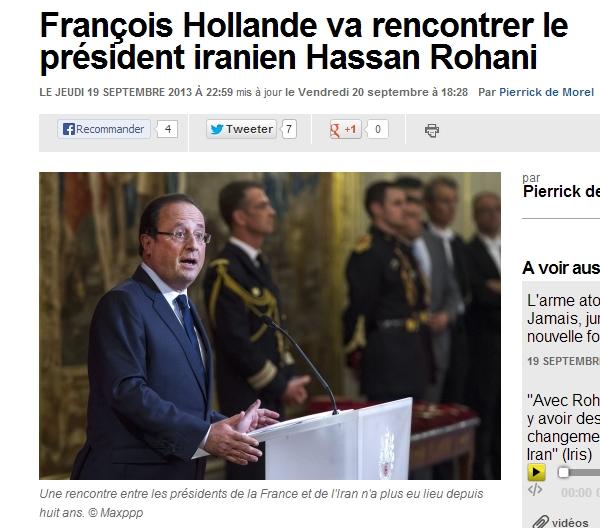 프랑스 대통령,이란 대통령과 만날 예정