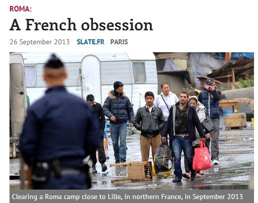 """프랑스 내무,""""집시들은 자기나라로 돌아가라!"""""""