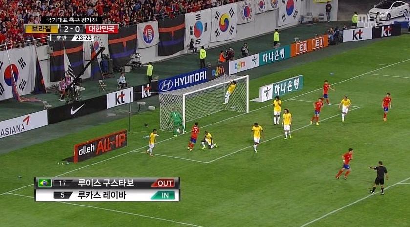 131012 한국과 브라질 평가전