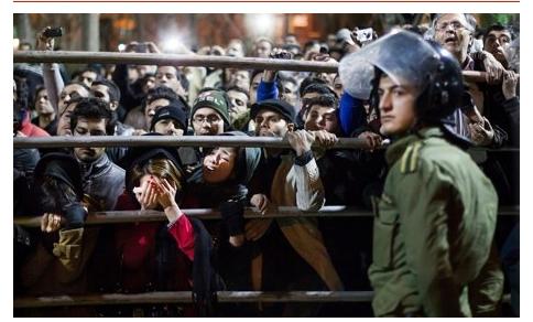 이란에서의 공개처형...