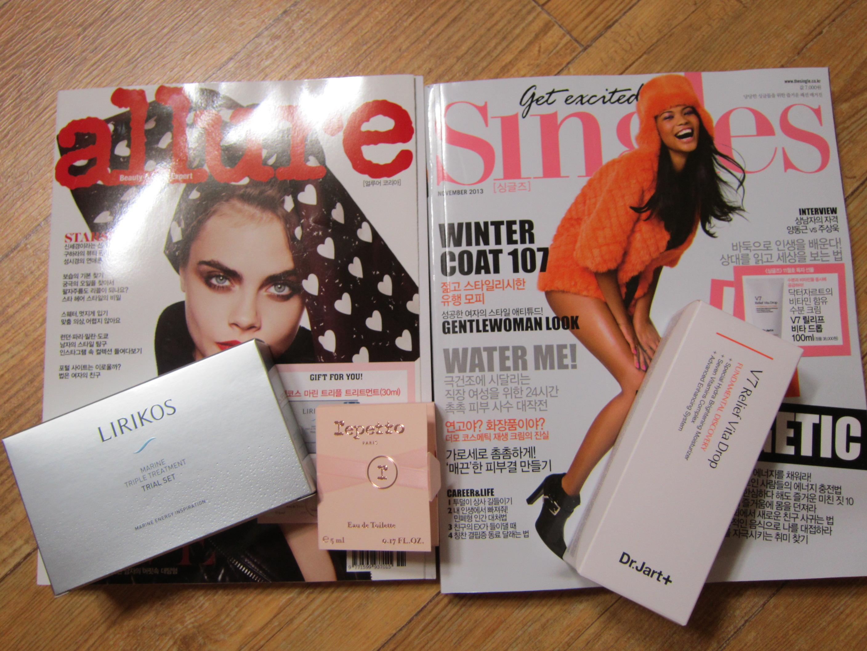 11월 잡지- 얼루어, 싱글즈 도착!