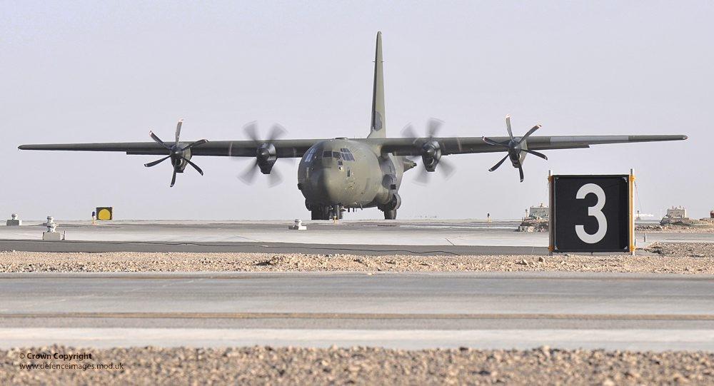 우박으로 무력화된 영국 공군의 수송기들