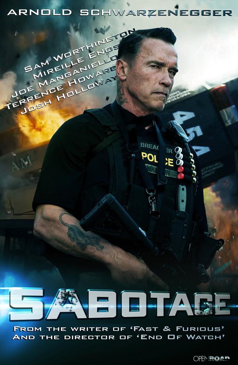 """아놀드 슈워제네거의 """"Sabotage"""" 입니다."""