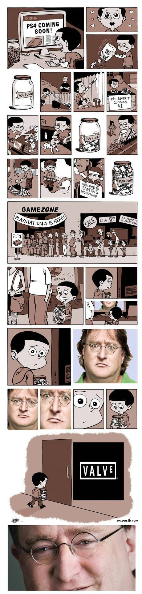 PS4 를 사기위해 돈을 모은 아이