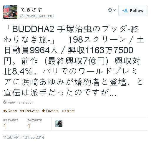 '데즈카 오사무의 붓다2' 개봉 첫 주말 흥행 성적이..