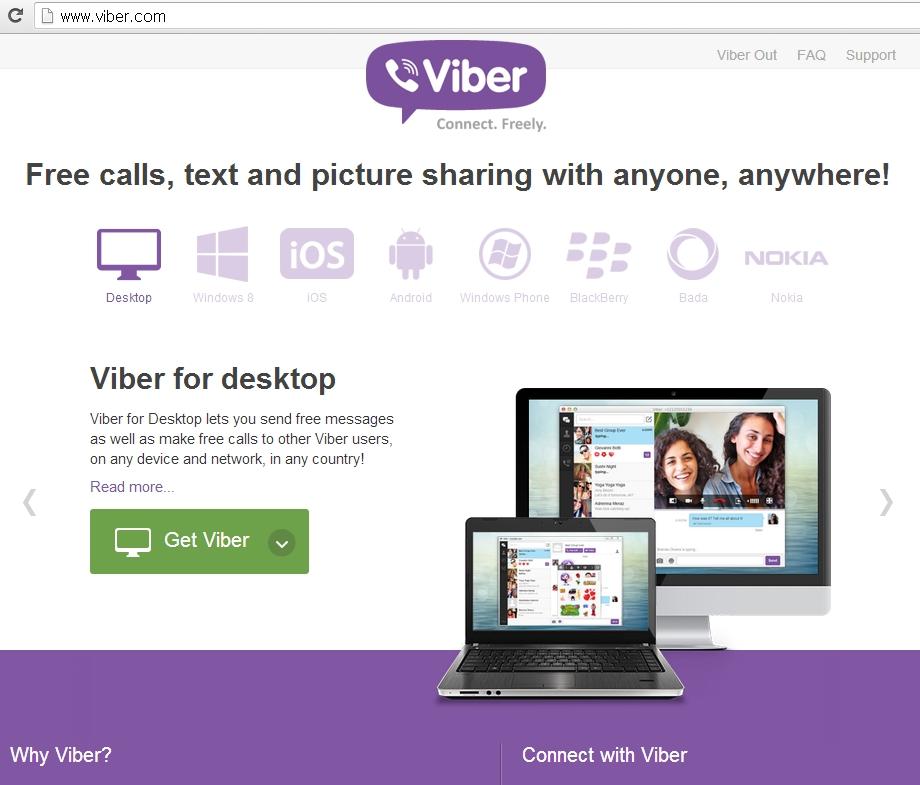 스마트폰 공기계에서 바이버(Viber)로 무료통화..