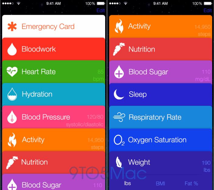 iOS 8에 진짜 Healthbook 이라는 어플이 들어가..