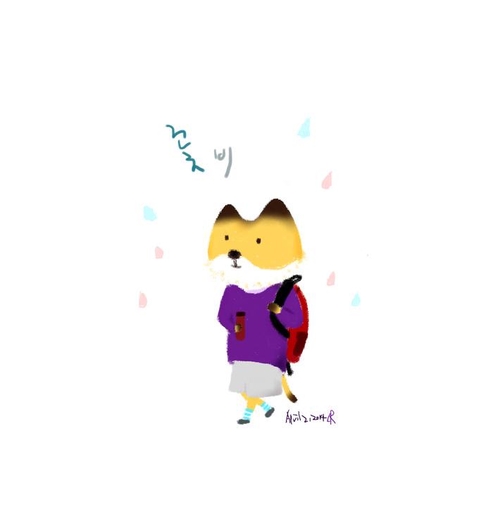 [일러스트] 꽃 비
