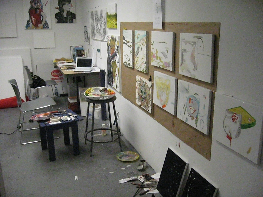 studio(s)_abandoned paintings