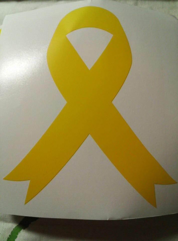 인쇄피아에서 보내주신 차량용 노란리본
