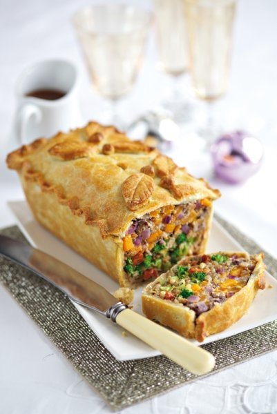 Leek, squash and broccoli pie - Main cou..