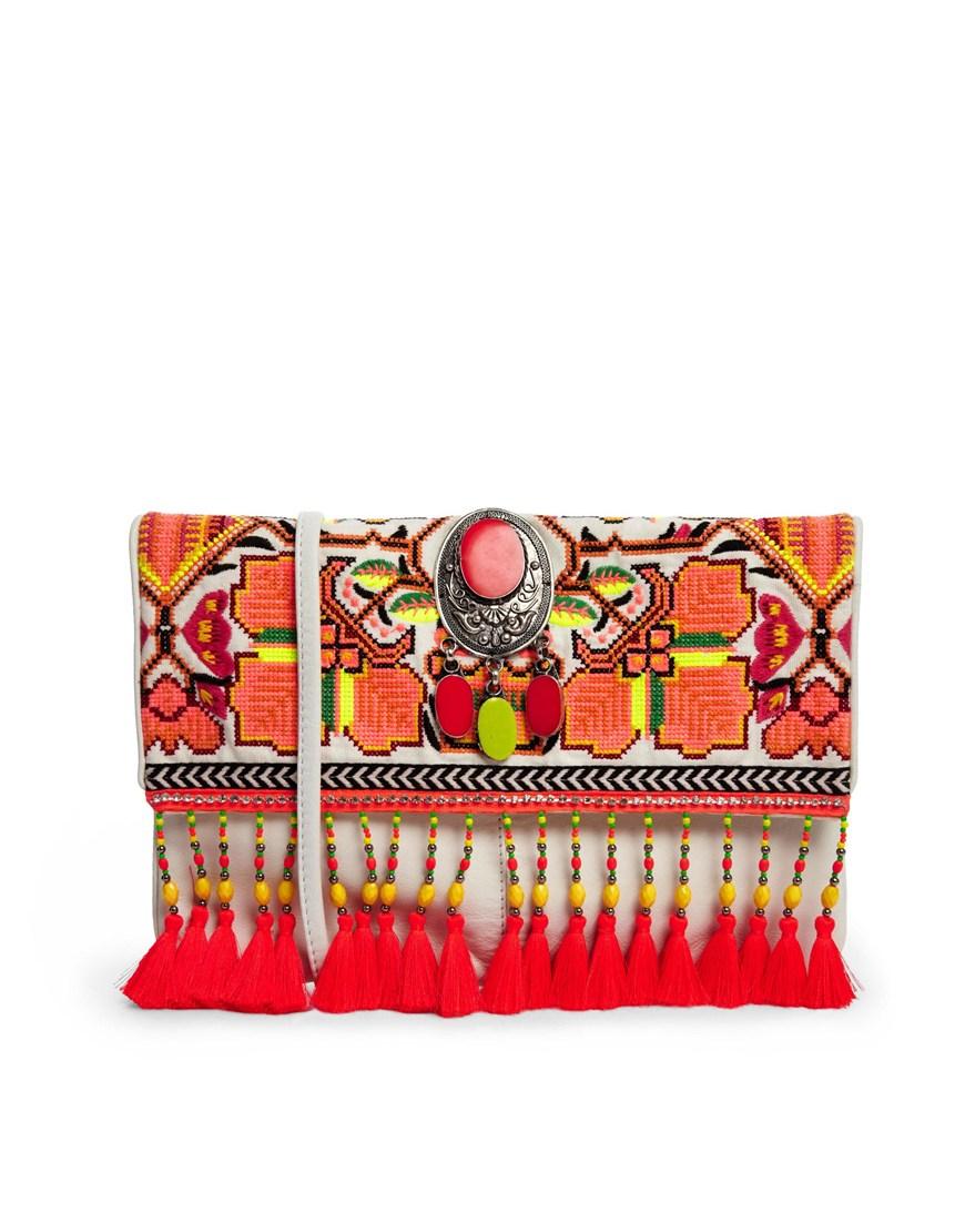 여성 악세사리(River Island Orange Tapestry ..