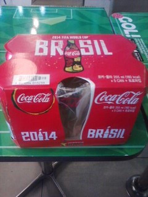 코카콜라 한정판 2014 브라질 월드컵 기념 코카콜라컵