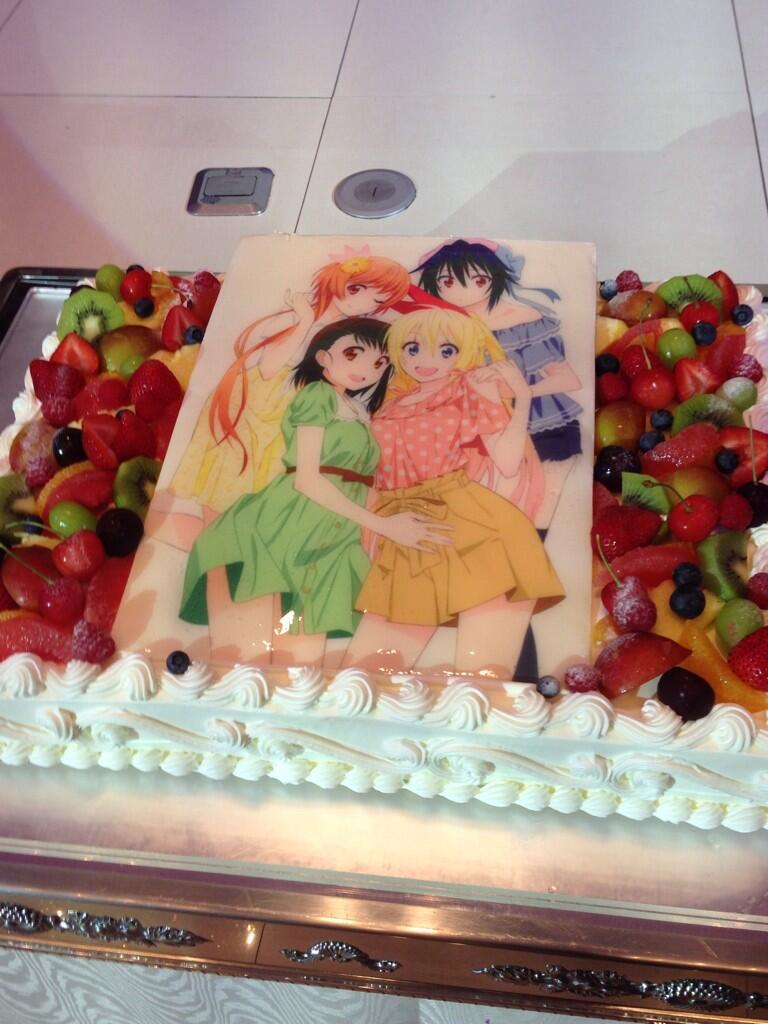 '니세코이' 뒤풀이 파티 케이크 사진이 멋지네요.