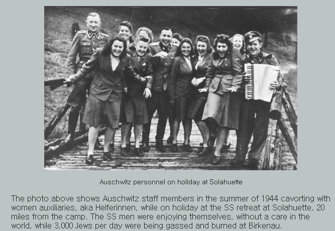 아우슈비츠 수용소 대원들의 웃음...ㅠㅠ