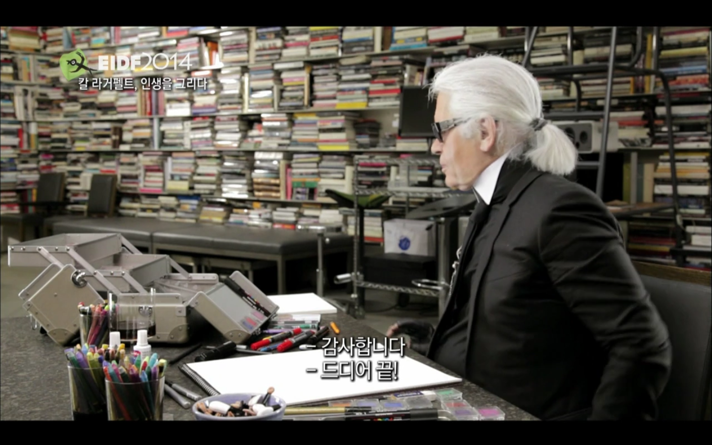 (eidf) karl lagerfelt sketches his life - 칼 라거펠트, 인생을 그리다 (2012)
