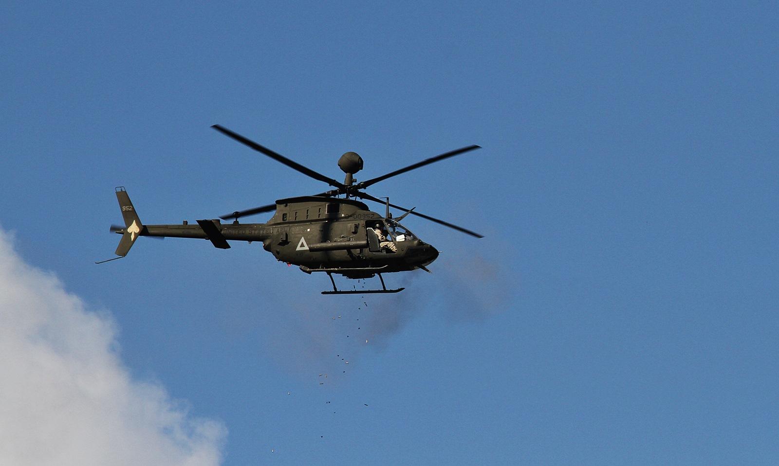 2014 육군항공사격대회 참가 주한미군 OH-58D Kiow..