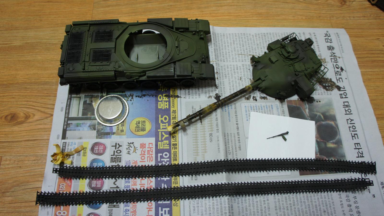 타미야 1/35 치프틴 MK.5 채색중.3