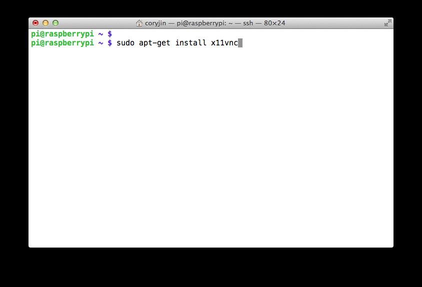 3.2. 라즈베리 파이 X11VNC 설치하기 / Installing ..